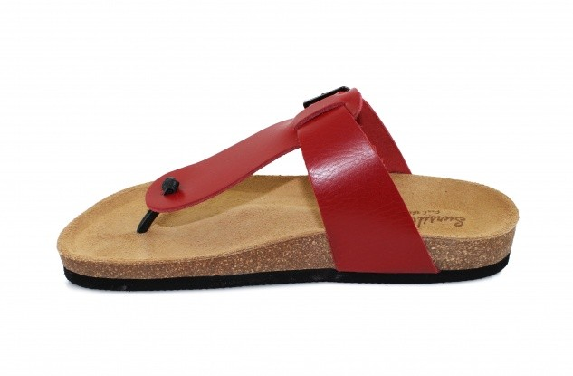 5b82ec8d65304 Сандалии Сурсил-Орто женские ортопедические летние монолитная подошва  кожаные красные, 160131