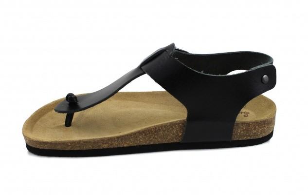 6754d134b9f0c Сандалии Сурсил-Орто женские ортопедические летние монолитная подошва  кожаные черные, 160136