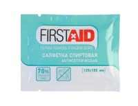 Салфетка спиртовая Ферстэйд (Firstaid) антисептическая для дезинфекции, 135х185мм, 1шт